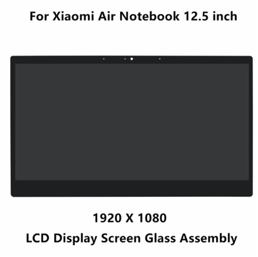 12.5 inch For Xiaomi NV125FHM-N82 1920*1080 LED LCD Screen Matrix Assembly+front glass with frame 13 3 front glass led lcd display screen matrix assembly with bezel for xiaomi ltn133hl09 w lq133m1jw15