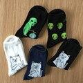 Mediados de la tripulación calcetines mujeres de los hombres de algodón marca ripndip extranjero cat patrón Pop-Up rip n dip Medias Harajuku Diseñador Meias de Compresión calcetines