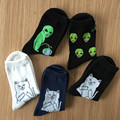 Mid Crew Socks Women Men Cotton Brand RIPNDIP Alien Cat Pattern Pop-Up rip n dip Sox Harajuku Designer Compression Meias socks