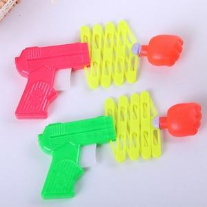 3pcs/set Gags Practical Jokes Funny magic elastic telescopic fist gun magic tricks toys for children DIY manual toy kids toys
