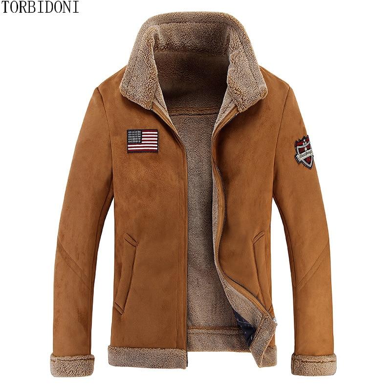Casual Winter Fleece Jacket Men Wool Liner Autumn Mens