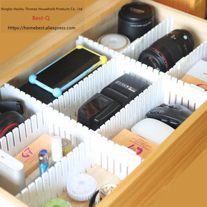 Image 5 - Free shipping Free combination drawer partition / finishing grid / drawer separator / storage partition / plastic partition