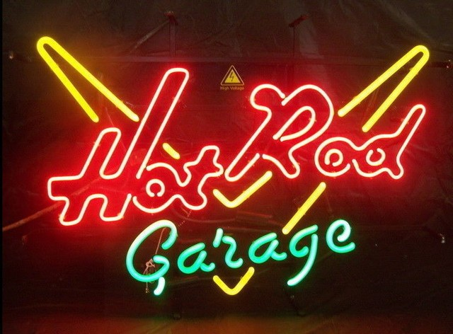 Custom Vintage Car Hot Rod Garage Glass Neon Light Sign Beer Bar
