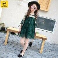 Girl Lace Dress Green Black Size 3 4 5 6 7 8 9 10 11 12