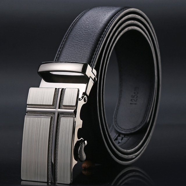 Famous Brand Belt Men Good Quality Cowskin Genuine Luxury Leather Men's Belts for Men,Strap Male Metal Automatic Buckle