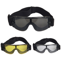 군사 고글 전술 안경 3 렌즈 장난감 총 X800 선글라스 눈 보호 모터 자전거 승마 안경 새로