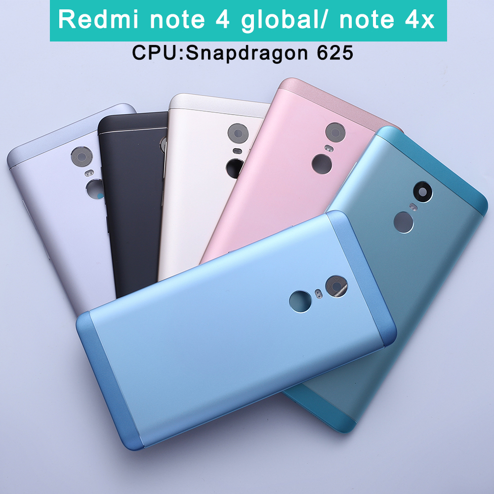 Note4x Original Housing For Xiaomi Redmi Note 4x Metal Battery Back Cover Mobile Phone Replacement Parts Case