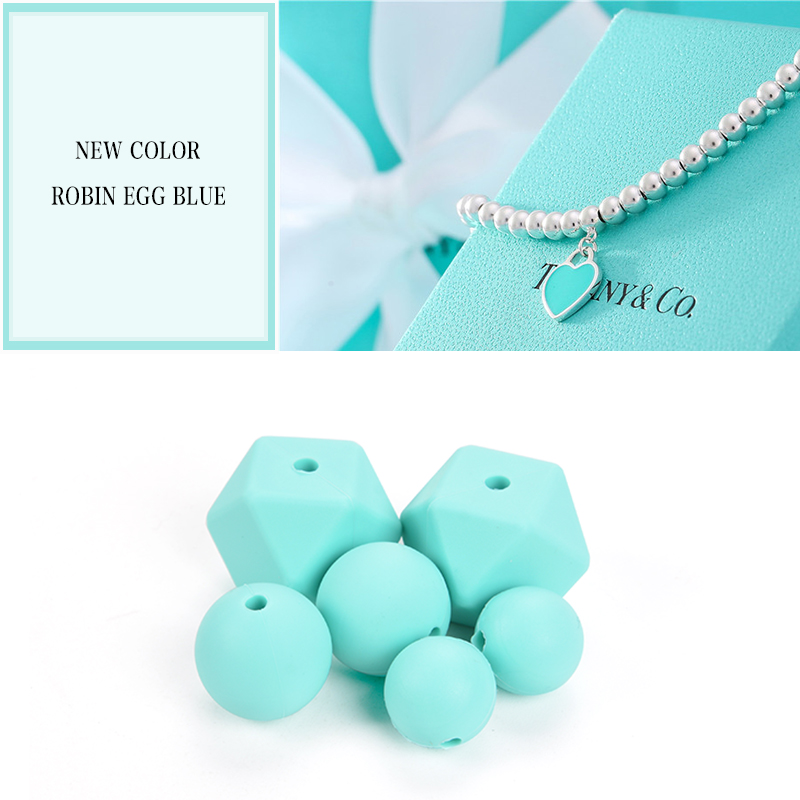 Image 4 - Wholesale Large Hexagon Loose Silicone Beads Baby Teething Necklace Silicone Teether Beads For Baby Teether BPA Safe Loose Beads-in Baby Teethers from Mother & Kids