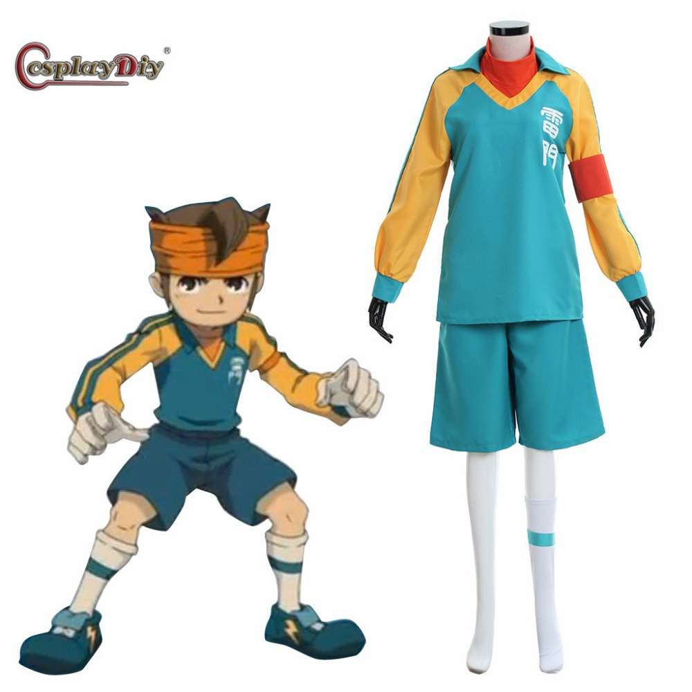 Cosplaydiy Inazuma Eleven Mamoru Cosplay Costume Team School Uniform Unisex Halloween Clothing Custom Made j10