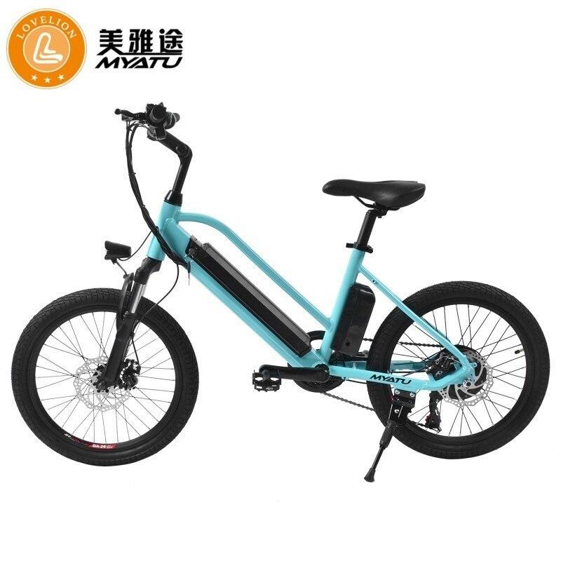 MYATU New Mountain Bike 20 inch 36V Electric Power Bicycle with Lithium-Ion Battery ebike EU Plug bike