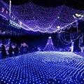 3X2 m 192 LEDs Fada Net Luz Cordas 7 cores Ao Ar Livre À Prova D' Água 220 V para Festa de Natal Do Casamento Decoração de Evento iluminação