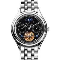Reloj de marca de lujo LOBINNI para hombres  Japón  MIYOTA  movimiento mecánico automático  relojes para hombres  reloj de zafiro multifunción  L13006-4