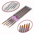New 5PCS/ Set Color Painting Drawing Nail Art Acrylic UV Gel Salon Pen Flat Brush Kit Dotting Tool for professional and home use