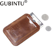 Mini Small Bank ID Business Credit Slim Card Holder Genuine Leather Men Wallet Male Purse Case On Pocket For Cardholder Kashelek