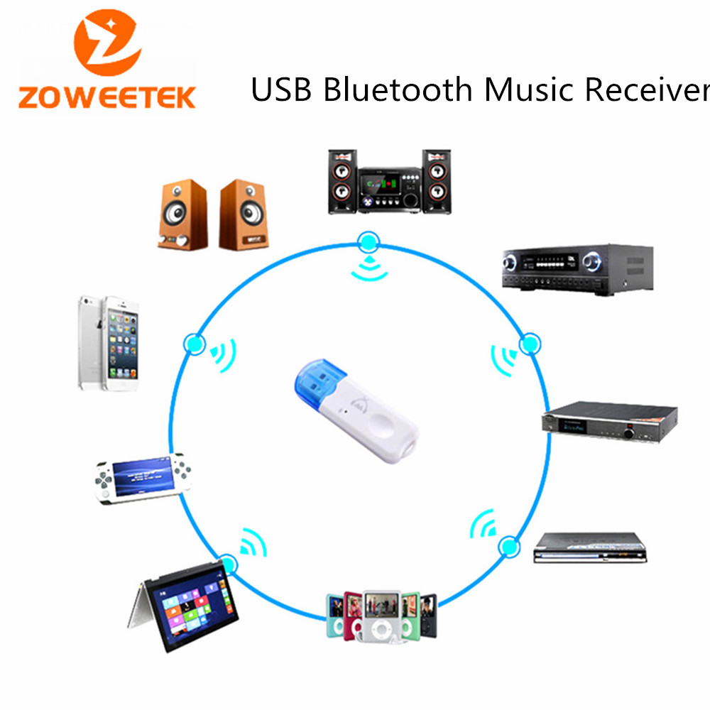 zoweetek wireless blue color v2 1 usb bluetooth audio. Black Bedroom Furniture Sets. Home Design Ideas