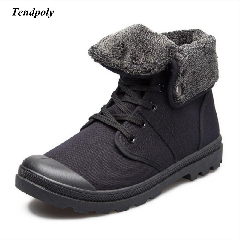 9503d516b5a Winter new non-slip breathable warm wear-resistant canvas shoes outdoor  fashion men's shoes Paladin wild short tie men's boots