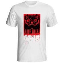 9af2a3bb2e6 Кровавая Одинокий волк Футболка Wanted поп-панк Хип-хоп футболка творческий  Дизайн принт Для женщин Для мужчин Топ