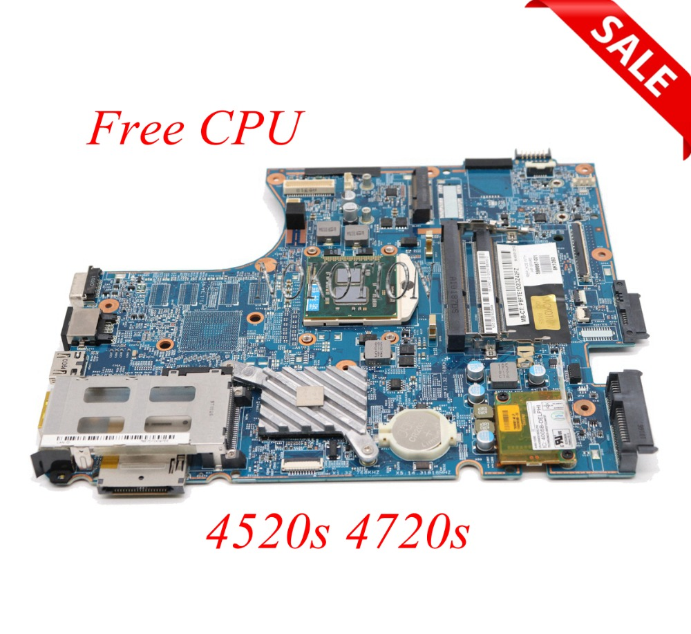 NOKOTION 598667-001 Laptop Motherboard For HP ProBook 4520s 4720s HM57 Main board H9265-2 48.4GK06.041 Free CPU цена 2017