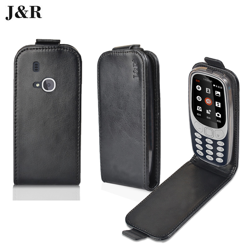 J&#038;R Leather Case For <font><b>Nokia</b></font> <font><b>3310</b></font> 2017 Vertical Magnetic Case For <font><b>Nokia</b></font> <font><b>3310</b></font> 2017 Filp Cover Fashion <font><b>mobile</b></font> <font><b>Phone</b></font> Bags &#038; Cases