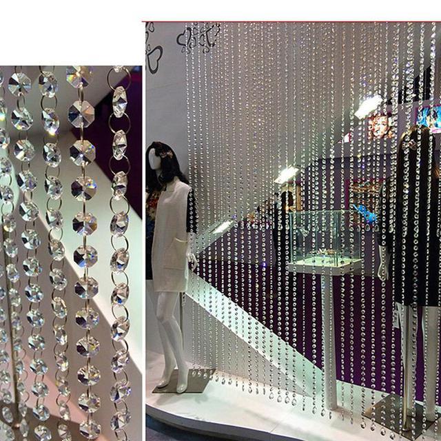 DIY Decor Diamond Acrylic Crystal Beads Curtain Strand Garland Window Scarfs Wedding