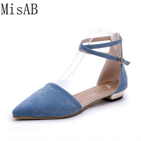 Fashion Woman Flats Spring Summer Women Shoes High Quality Strap Women Sandals Suede Casual Comfortable Flat