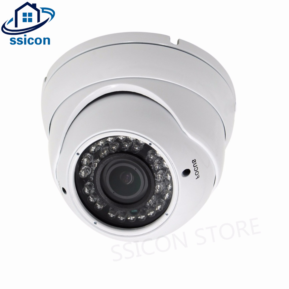 SSICON H.264 2.8-12mm Varifocal Lens Home 4X Manual Zoom IP Camera Dome Full HD IR Distance 30M 1080P Network Camera 2MP Onvif