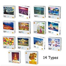 100 Pieces Thicker Paper Jigsaw Puzzles for Children Old Master Landscape Puzzle Toys Parent-child Interactive Games Kids 1500 pieces peaceful night for city landscape painting puzzles thicker paper 1500 pieces puzzle toy gift for news festival