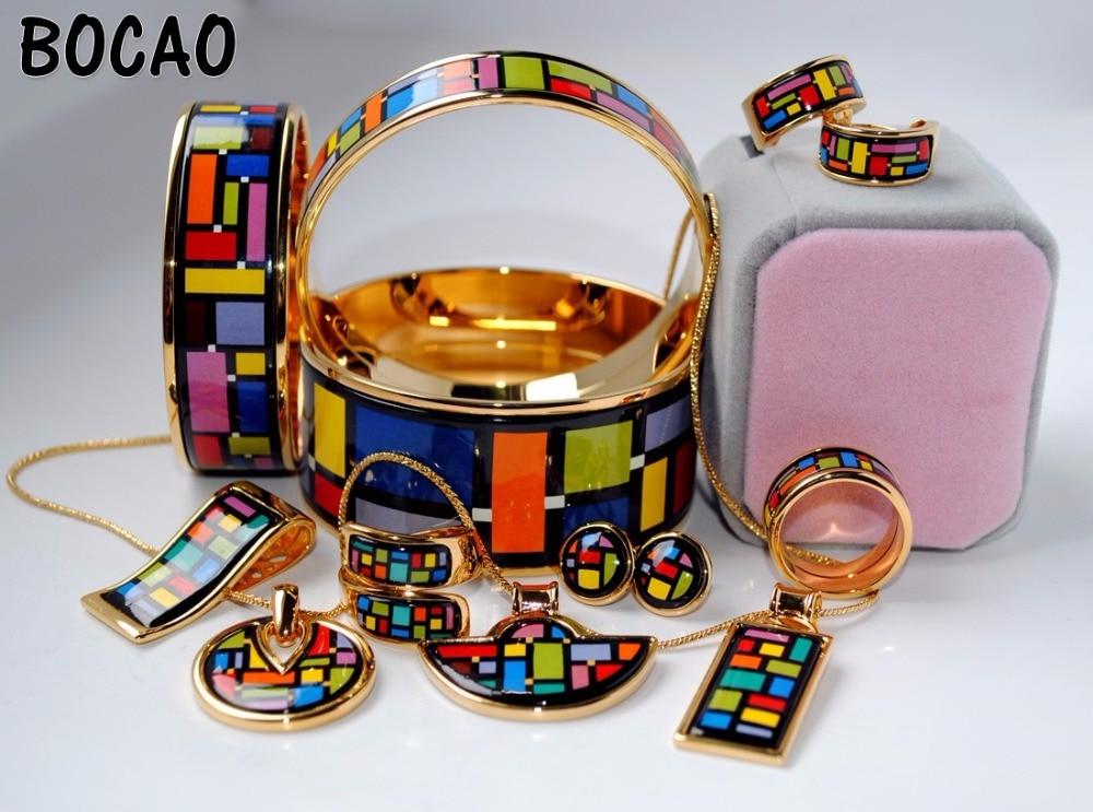 011 Cloisonne enamel jewelry European and American style 4pcs sets cloisonne jewelry enamel round ring european and american style