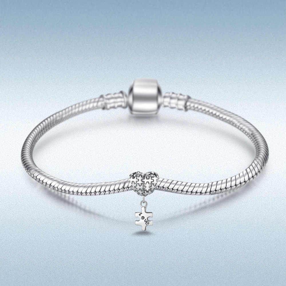 JewelryPalace จิ๊กซอว์ปริศนา 925 เงินสเตอร์ลิงลูกปัดเงิน 925 สำหรับสร้อยข้อมือเงิน 925 เครื่องประดับทำ