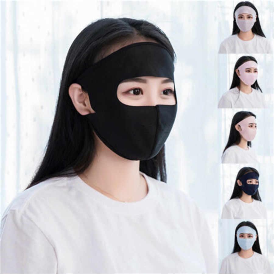 Donne Degli Uomini di Estate di Seta del Ghiaccio Sottile Protezione Solare Completa Viso Batteri A Prova di Polvere Maschera Traspirante Ciclismo Antivento Viso Maschere Lavabile