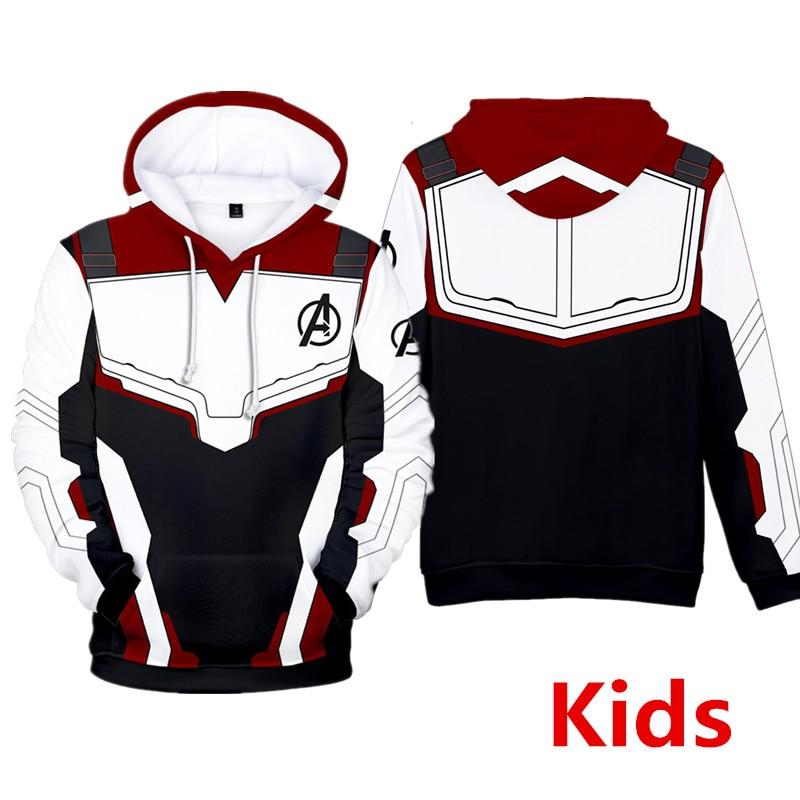 US Avengers 4 Endgame Quantum Realm Kids Hoodies Boy Sweatshirts Coat Costume