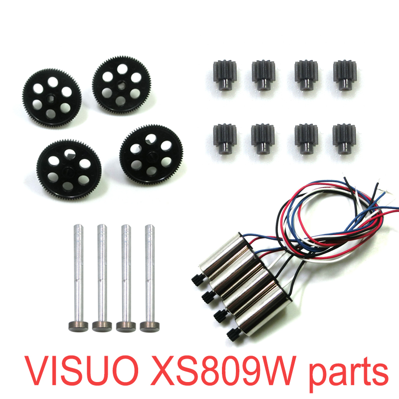 Image 3 - RC Drone Original Parts VISUO XS809W XS809HW XS809 RC Quadcopter Spare Parts Spindle Geared Bearing Motor Geared Engine-in Parts & Accessories from Toys & Hobbies