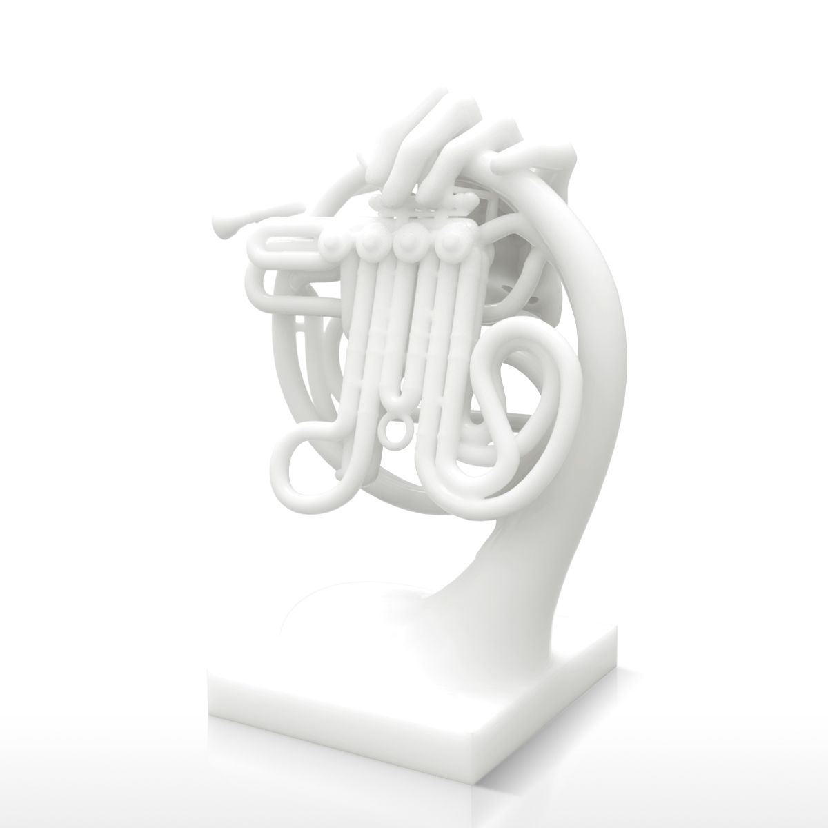 Us 169 74 30 Off 3d Printed Horn Fantasia Sculpture Abstract Sculpture Art Home Decoration Accessories Instrument Instrumentos Musicais In Statues