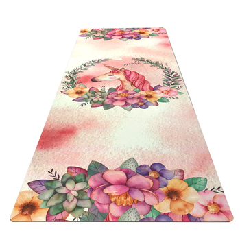 GM040 183cm*61cm*3.5mm Natural Rubber Suede Fabirc Non-Slip Environmental Protection Lose Weight Exercise Mat Fitness Yoga Mat