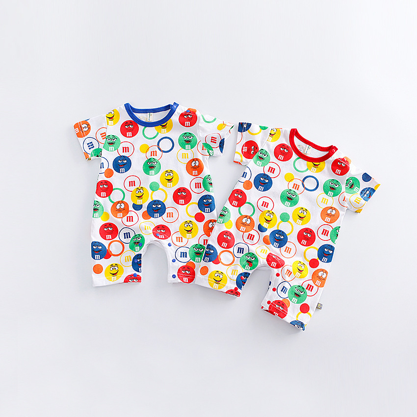 Baby Unisex Clothes Baby Twins Summer Rompers Baby Girl Romper Infant Cute Costumes Mm Chocolate Funny Baby Rompers Boy Jumpsuit