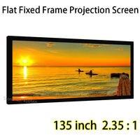 High Definition Projektor Bildschirm 135-inch 2,35 Durch 1 Feste Projektionswände Aluminium Schwarz Samt Rahmen