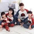 Соответствующие семьи оленей рождество пижамы navidad familia зимние брюки набор хлопок мать дочь соответствующие одежда красный