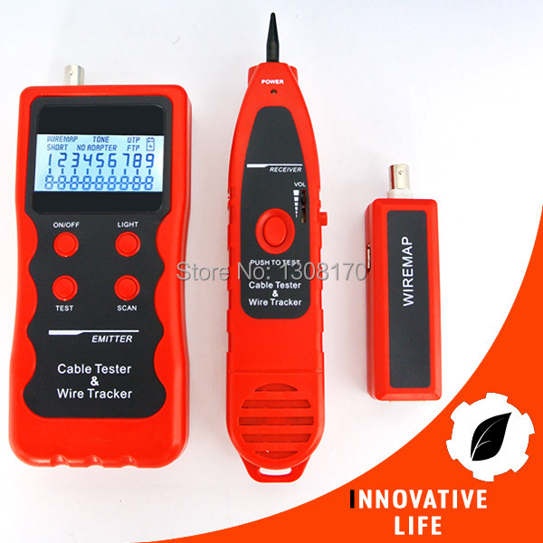 Digital LAN Cable Tester Test Telephone Wire 5E 6E USB cable 1394 line Coaxial Cable BNC RJ45 RJ11 Multipurpose Checker digital twisted wire meter test cat5 rj45 stp utp lan phone coaxial network cable tester