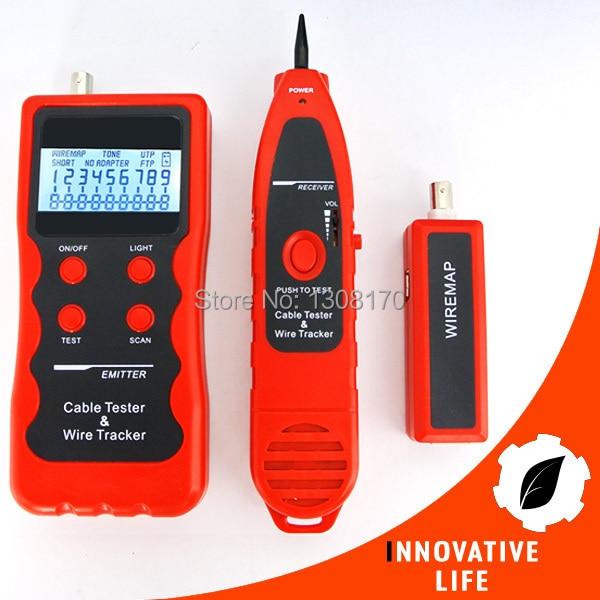 купить Digital LAN Cable Tester Test Telephone Wire 5E 6E USB cable 1394 line Coaxial Cable BNC RJ45 RJ11 Multipurpose Checker недорого