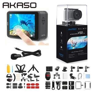 Image 3 - AKASO V50 برو الأصلي 4K/30fps 20MP واي فاي عمل الكاميرا EIS شاشة تعمل باللمس 30 متر مقاوم للماء 4k كاميرا رياضية دعم الخارجية مايكرو
