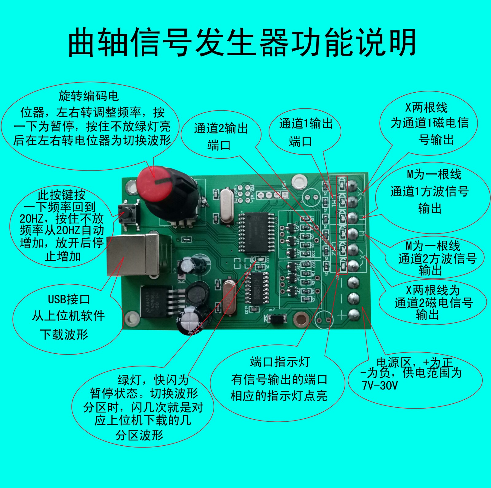 Vehicle Crankshaft Signal Simulator Generator