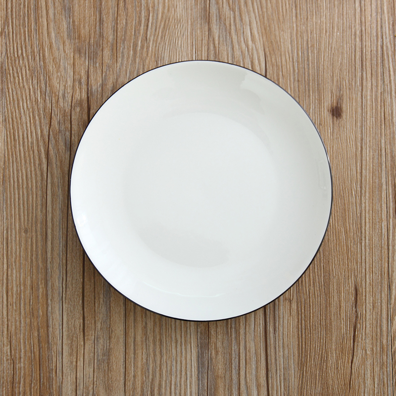 1 PC Ceramic 8 Inch Round White Plate On glazed Porcelain Tray Hotel Home Dinnerware Steak Rice Fruit Dish Simple Tableware-in Dishes \u0026 Plates from Home ... & 1 PC Ceramic 8 Inch Round White Plate On glazed Porcelain Tray Hotel ...