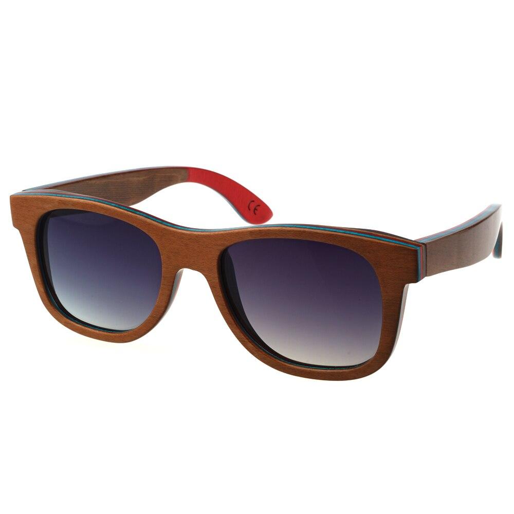 2016 New Skateboard wooden sunglasses men women brand designer glasses font b fashion b font men