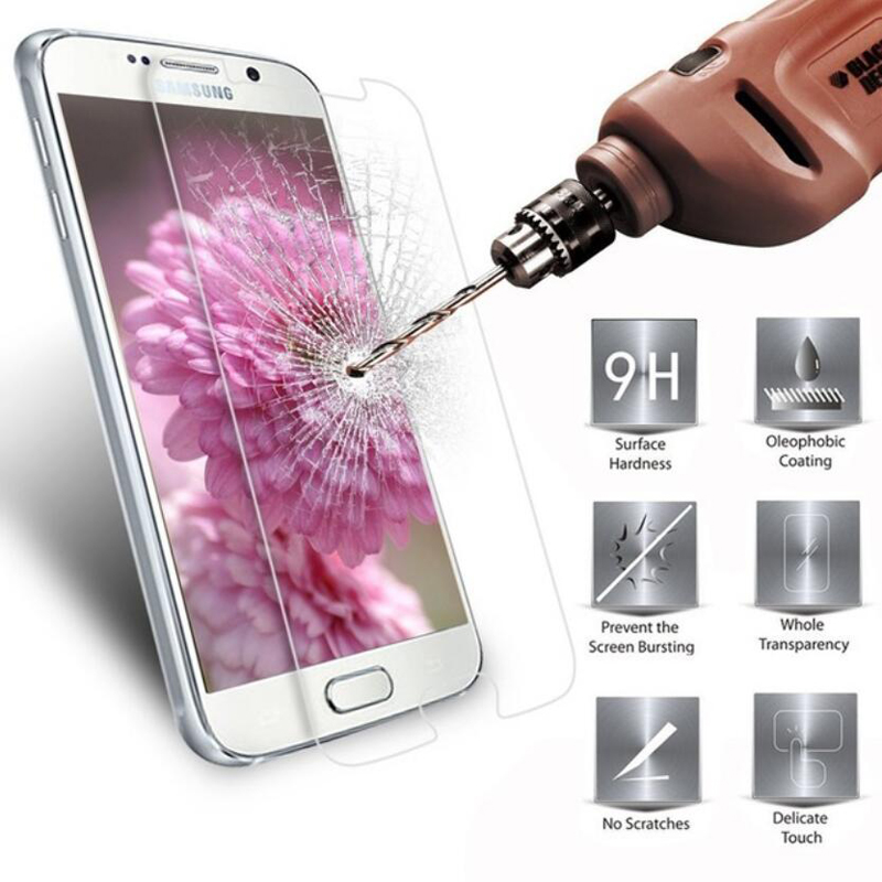 2.5D 9H Tempered Glass For Samsung Galaxy J3 J5 J7 J1 Mini A3 A5 A7 2016 2015 2014 Screen Protector Toughened Glass Guard Film