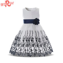 Flower Girl Wedding Bridal Gown Dress Girl Party Wear Toddler Children Princess Costume For Girl Kids Prom Gown Vestido Infantil