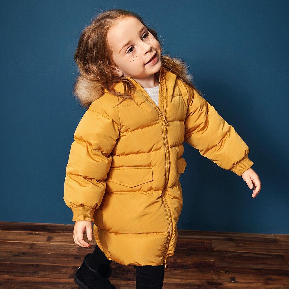 8fd4996c1 Mini Balabala Kids Toddler Girls Frost free Long Jackets with Faux ...