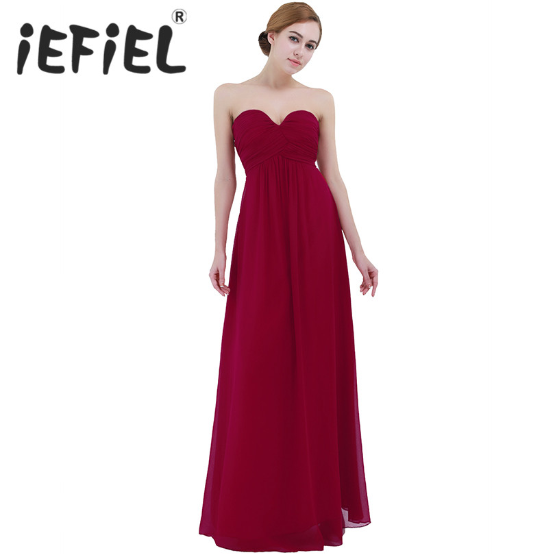 iEFiEL Summer Female Women's Dress Ladies Chiffon Elegant Party Formal Dress Maxi V-Neck Full Length Dresses For Female Vestidos
