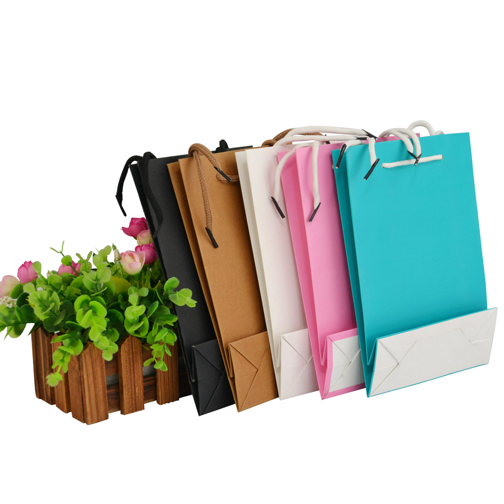 wholesale 500pcs/lot Cheap Price Luxury Famous Brand Gift Custom Printed Shopping Paper Bag With Your Own Logo ...