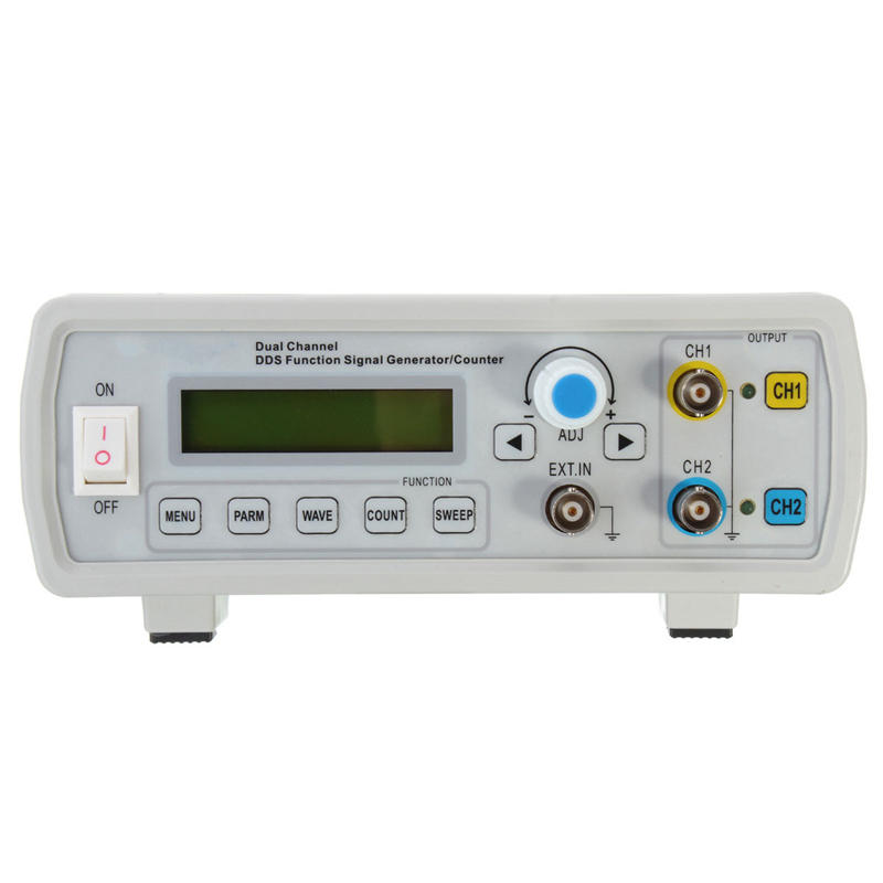 High Accuracy 2MHz Dual Channel DDS Function Signal Generator Sine/Square Wave Sweep Counter frequency range 1Hz-60MHz