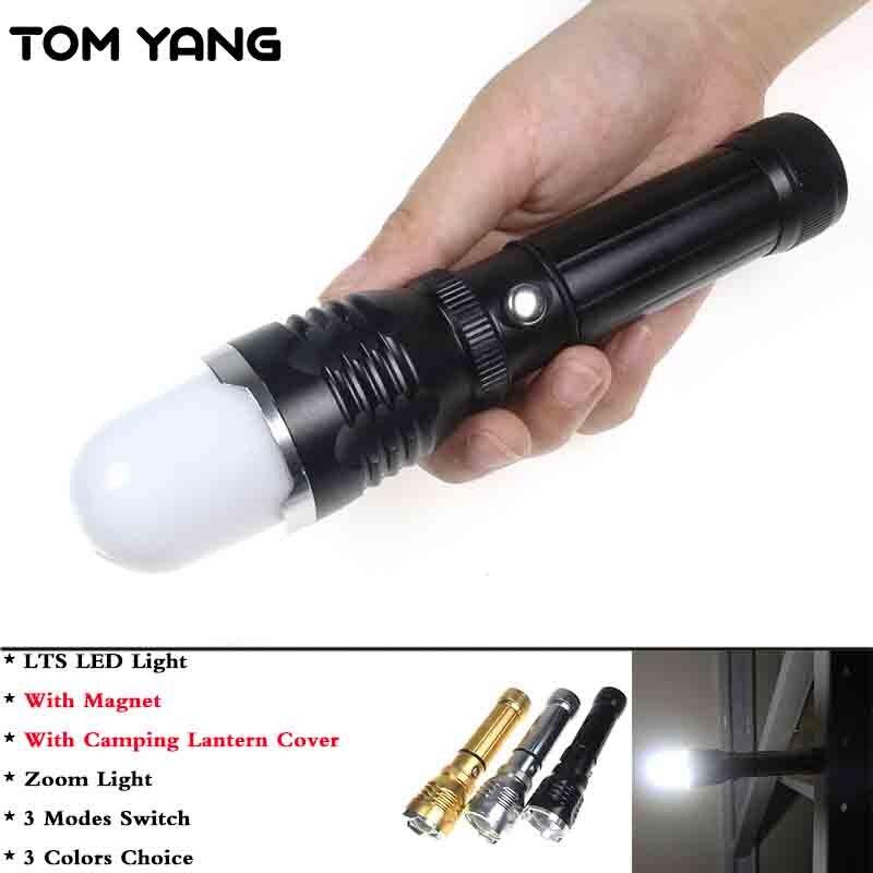 TOM YANG Camping En Plein Air Lanterne Haute Puissance LTS LED Flashlight Zoomables 3 Mode Torche Avec Aimant Rechargeable Randonnée Lampe